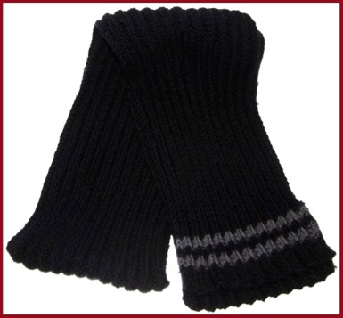 reversible rib scarf